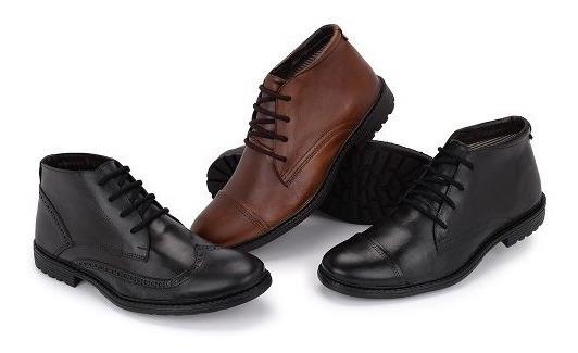 Botinha Sapato Oxford Social Masculino Couro Legítimo
