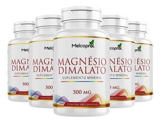 Magnésio Dimalato - 5x 100 Cápsulas - Melcoprol