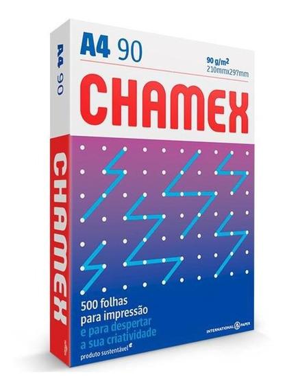 Papel Sulfite Chamex 210x297 A-4 90grs Super 500fls