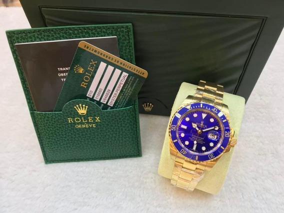 Relógio Masculino Rolex Submariner Calendário+caixa, Barato