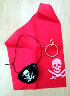 Set Disfraz Parche Pirata + Pañoleta + Pendiente