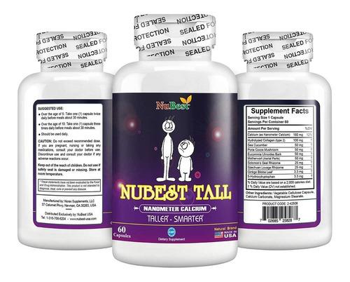 Nubest Tall Vitamina Para Crecimiento, Estatura Natural