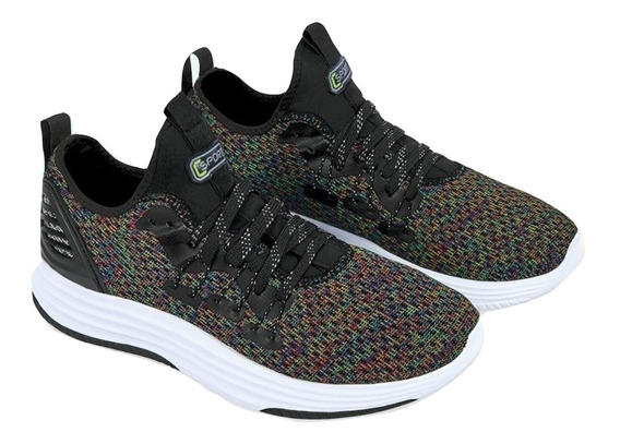 Cklass Sneaker Urbano Hombre Negro Textil Flat 20836dtt