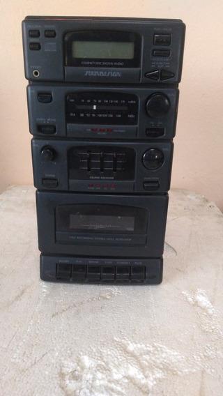 Defeito!!! Micro System Soundesign Modelo 6610blk