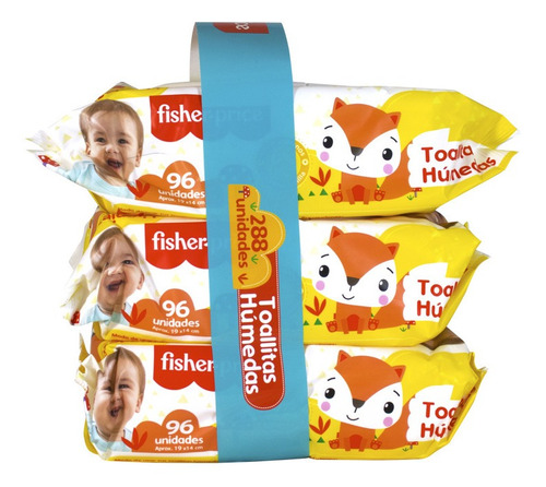 Fisher Price Toallas Húmedas 12x96und - Limpieza Diaria