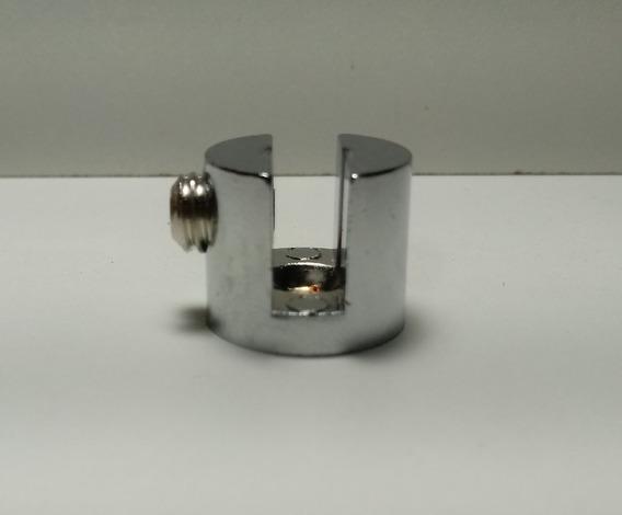 8 Suportes Boca Jacaré Prateleira Vidro Cromado 4 6 8 10mm