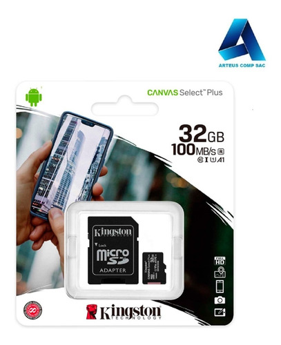 Memoria Micro-sd 32gb Kingston Sdcs2/32gb - Arteus Comp Sac