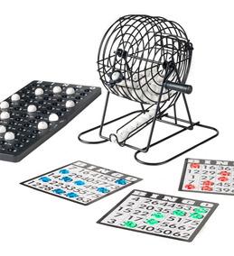 Jogo De Bingo Loto Com Globo Cartela E Tabuleiro 75 Números