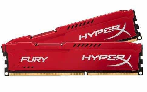Memória Ram P/pc Gamer Ddr3 4gb Kingston Hyperx Fury 1600mhz
