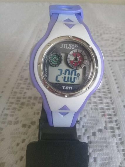 Relógio De Pulso Infantil Criança Digital Lilás Exclusivo