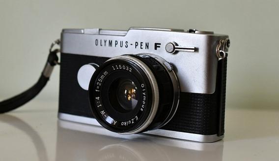 Câmera Olympus Pen F - Espetacular Condição 35mm - Analógica