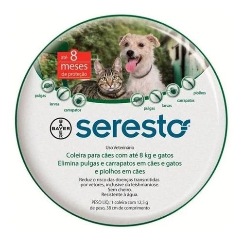 Coleira Antipulgas Seresto Cães E Gatos Até 8kg Filhotes
