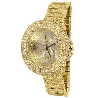 Reloj Golden World De Techno King Mens Heart Of Stone Oro 62