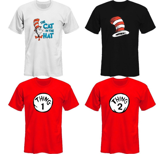 Remeras Cat In The Hat Dr Seuss Thing 1 Y 2 *mr Korneforos*