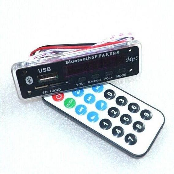 Placa Decodificador Bluetooth Mp3 Aux Cartão Sd Modulo Usb