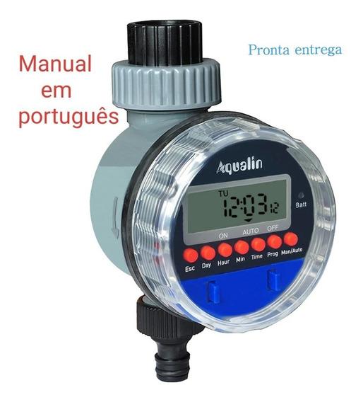 Temporizador Irrigação Digital Timer Fluxo Aspersor Aqualin