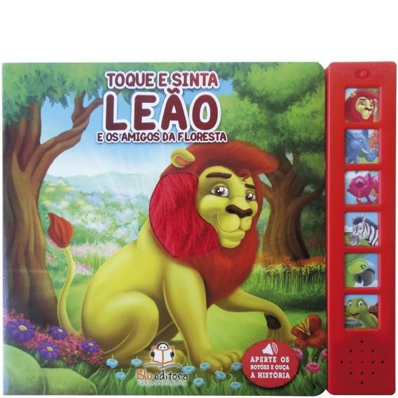 Livro Sonoro Toque E Sinta: Leão - Blu Editora