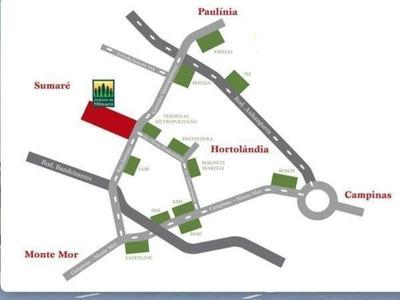 Terreno Residencial Em Hortolândia - Sp, Parque Ortolândia - Te0134