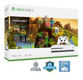 Xbox One S 1tb Minecraft Bundle Coleção Hdr Blu-ray 4k