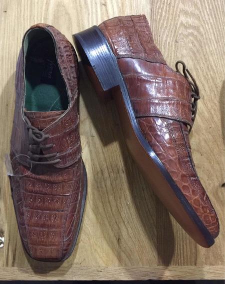 Zapato Cuero Legítimo De Cocodrilo
