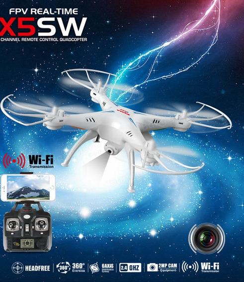 Drone Syma X5sw C/ Câmera Fpv Wi-fi 3 Baterias