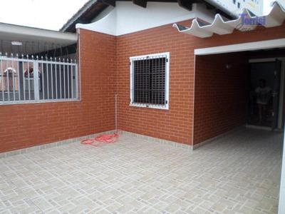 Casa Em Praia Grande, 02 Dormitórios, Com Churrasqueira No Caiçara Ca0049 - Ca0049
