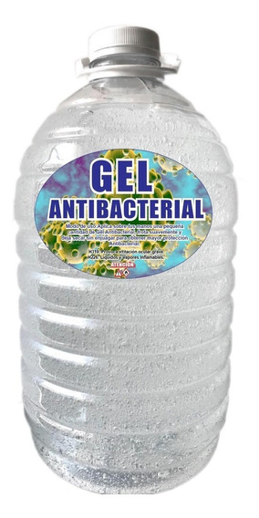 Gel Alcohol Antibacterial Cubeta Bote 5 Litros Mayoreo /i