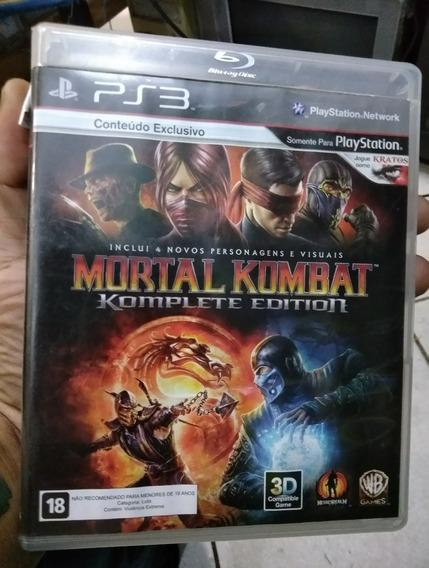 Jogo Ps3 Mortal Kombat Mídia Física Original