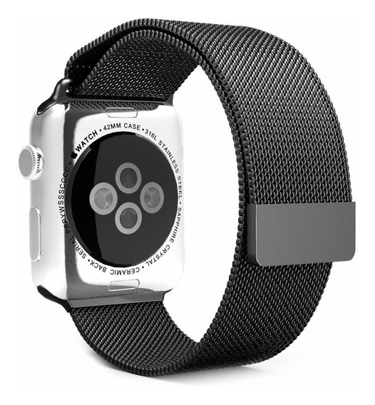 Pulseira Milanese Para Apple Watch 38/40mm - Preta