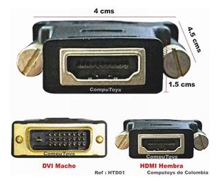 Zhtd01 Convierta Conexion Dvi 24+1 A Hdmi Hembra Computoys