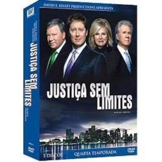 Dvd - Box Justiça Sem Limites: Quarta Temporada - 5 Discos