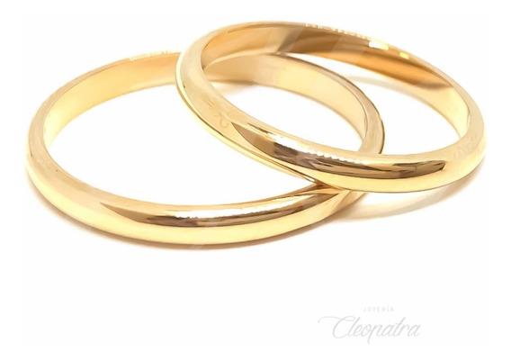 Alianzas Oro 18k 3gr Compromiso Casamiento Media Caña