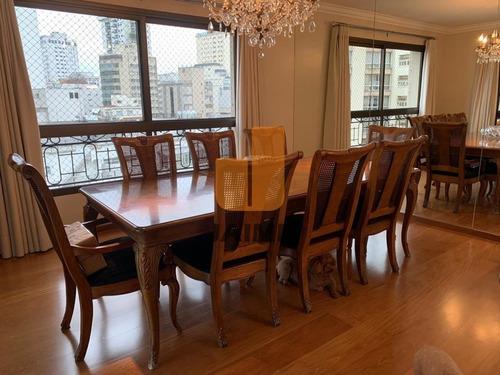 Excelente Apartamento Com 240 Metros, Em Área Nobre, Rua Arborizada, Tranquila, Prédio Com Lazer.   - Ja16030
