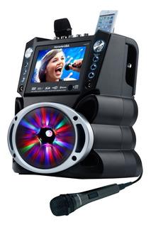 Parlante Karaoke Con Pantalla Gf842 + 2 Microfonos