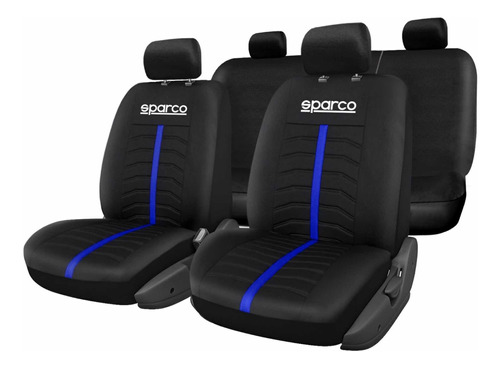 Cubre Asiento Sparco Universal Azul Material Polyester !!