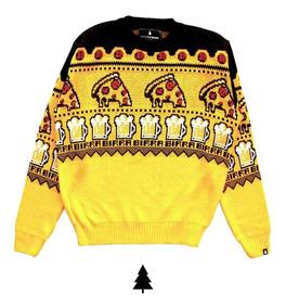 Pizza Birra - Sweater Hombre Y Mujer This Is Feliz Navidad