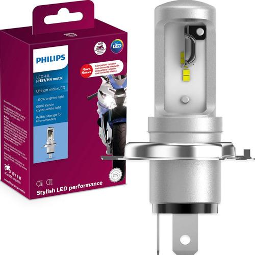 Imagem 1 de 6 de Lâmpada Led Ultinon Philips Moto Hs1 / H4 12v 6000k Top