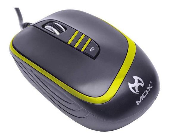 Mouse Mox Mo-me95 Preto E Amarelo - Jl-63