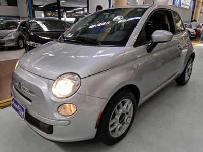 Fiat 500 1.4 Cult Prata 2012 (completo)