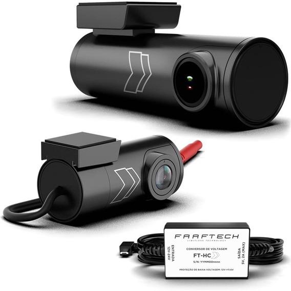 Camera Dvr Automotiva Faaftech Dianteira Traseira + Cabo 12v