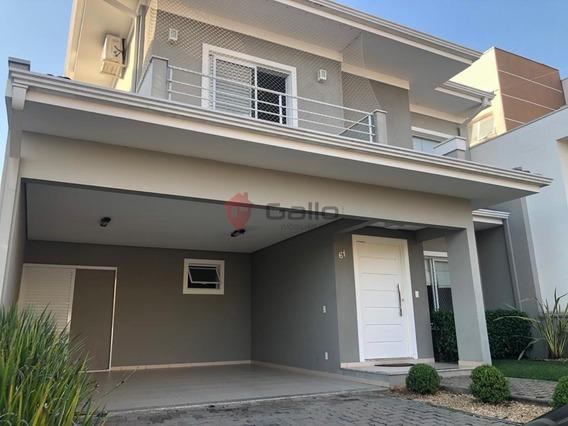 Casa À Venda Em Condomínio Reserva Da Mata - Ca001017