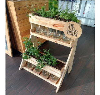 Jardinera Vertical Autorregante, Con Plantas