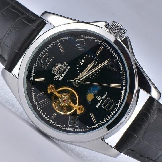 Relógio Pulseira De Couro Tourbillon Automático 1ª Linha
