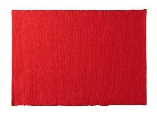 Manteles Individuales De Mesa Rojo Set X 4 Fourtyhouse