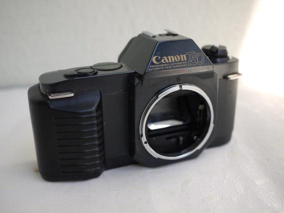 Maquina Fotografica Filme T50 Canon Com Defeito .