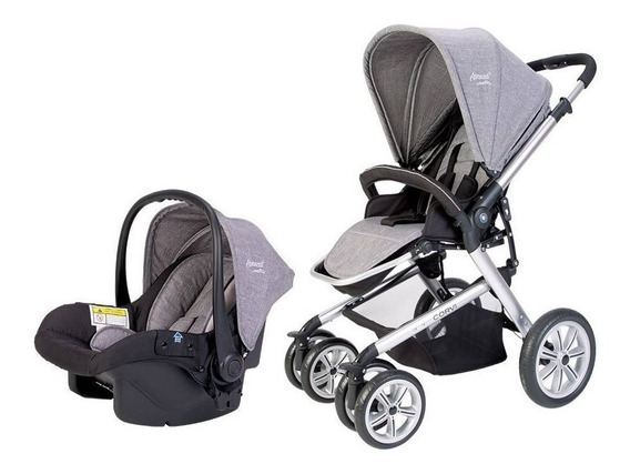 Carriola Bebe Evenflo Corvi Gray Reclinable Portabebe
