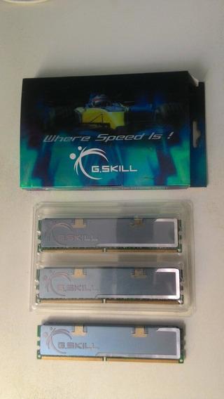 Memória G.skill 6gb (3x2gb) Ddr2 800mhz Pc2-6400 Cl5-5-5-15