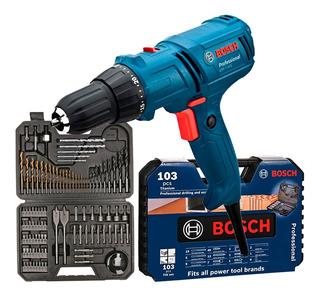 Furadeira Parafusadeira Elétrica 3/8 400w Gsr7-14e Bosch Kit