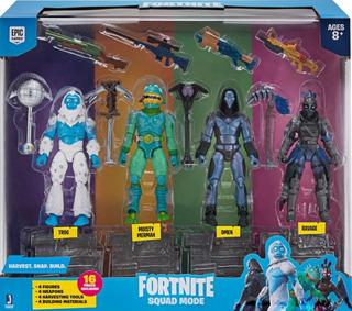 Fortnite Squad Mode Set 4 Figuras 10cm Con Accesorios Lelab