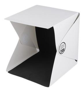 Estudio Fotografia Portatil 40 Cm Box Softbox Con Doble Led